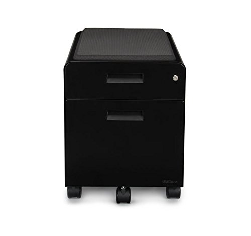 2 Drawer File Cabinet With Seat Rolling By Uplift Desk