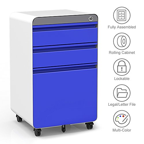 3 Drawer Filling Cabinet, Metal Vertical File Cabinet With Hanging File  Frame For Legal U0026 Letter File Install Free Anti Tilt Design And Lockable  System ...